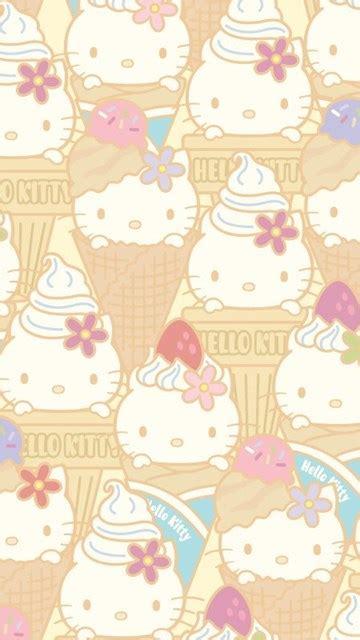 kitty ice cream cone wallpapers cute kawaii desktop background