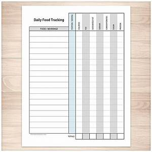 Meal Planner And Grocery List Printable Food Tracking Sheet Healthy Eating Daily