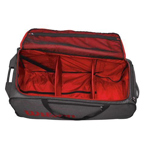 wilson traveler wheeled coach duffle bag sweatbandcom