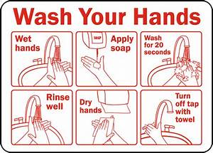 Wash Your Hands Instruction Label By Safetysign Com