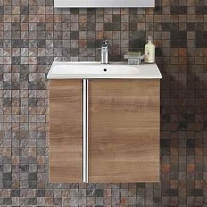 Meuble Vasque 60 Cm : meuble salle de bain 60 cm 2 portes plan vasque ~ Dailycaller-alerts.com Idées de Décoration