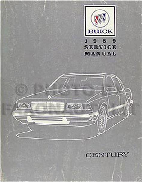 online car repair manuals free 1989 buick century electronic throttle control 1989 buick century repair shop manual original