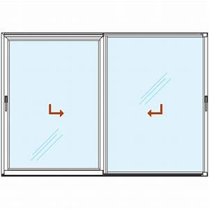 Dimension Baie Coulissante 2 Vantaux : baie vitr e coulissante alu gamme super confort 2 vantaux sur 2 rails energy fen tres ~ Melissatoandfro.com Idées de Décoration