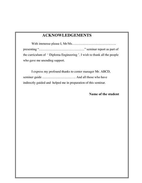 Seminar Acknowledgement Report | Templates at ...