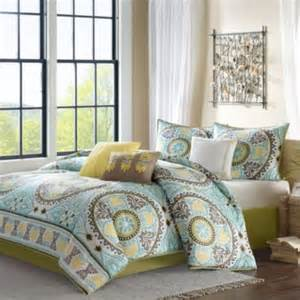 buy bedding sets in yellow blue and green from bed bath beyond