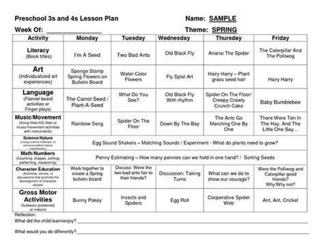 preschool lesson plan template homeschool preschool 120 | 3e0308e3ba7f5e8232c7208d8398f621