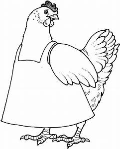 The Little Red Hen Coloring Pages - Coloring Home