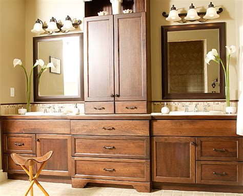 Bathroom Vanity With Center Tower by Traditional