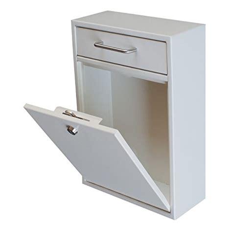 Locking Drop Box Wall Mounted Mailbox White Security