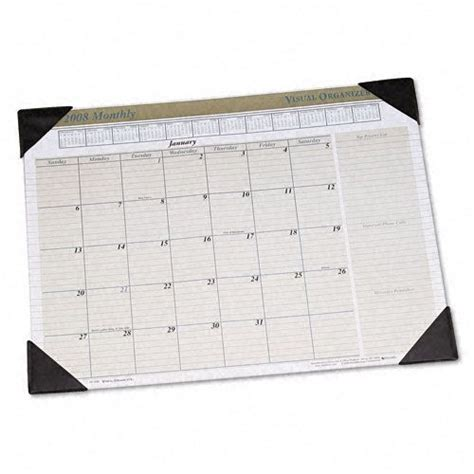 monthly desk pad calendar visual organizer executive monthly desk pad calendar