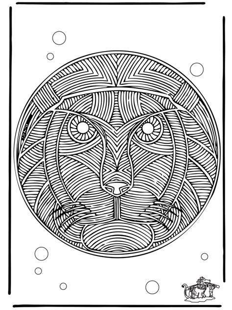 mandala de leon mandalas de animales
