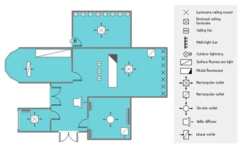 office layout plans lighting  switch layout design