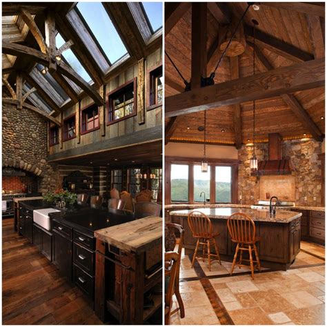 rustic country kitchen cozy rustic kitchens worthy of a mountain lodge rustic 2045
