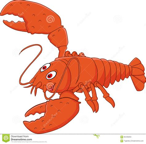 Cartoon Happy Lobster Posing Isolated On White Background Stock Vector  Illustration Of Fresh