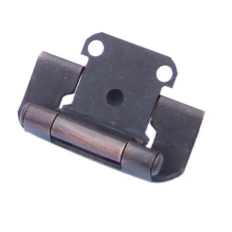 how to install self closing cabinet hinges shop gatehouse 2 pack 2 1 4 in x 1 1 2 in aged bronze self