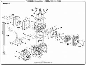Homelite 51988 Blower  Vacuum S  N 315000001  U0026 Up Parts Diagram For Figure C