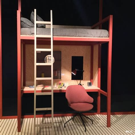 lit à étage avec bureau gallery of et le lit mezzanine en version tudiante en