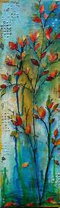 Texture, Mixed media and Leaf paintings on Pinterest