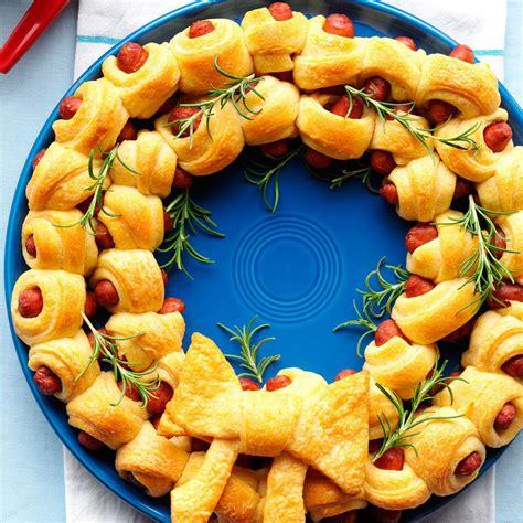 christmas creation food ring of piggies recipe taste of home