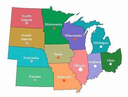 Midwest Map Usa Clipart States West Mid
