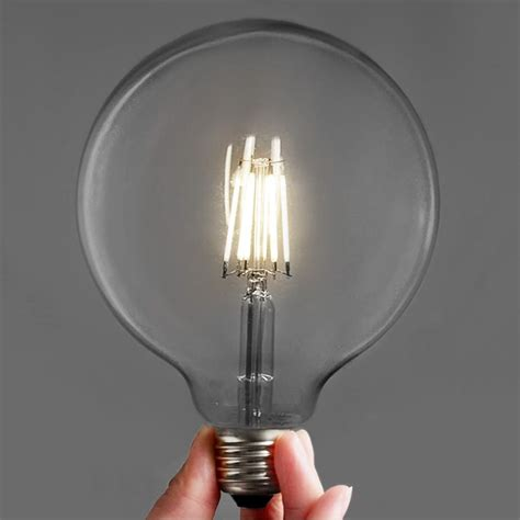 edison retro style led bulbs large g125 6w 3 or 6
