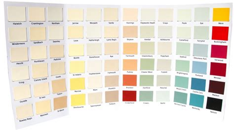 nutshell natural paints 2014 colour charts natural