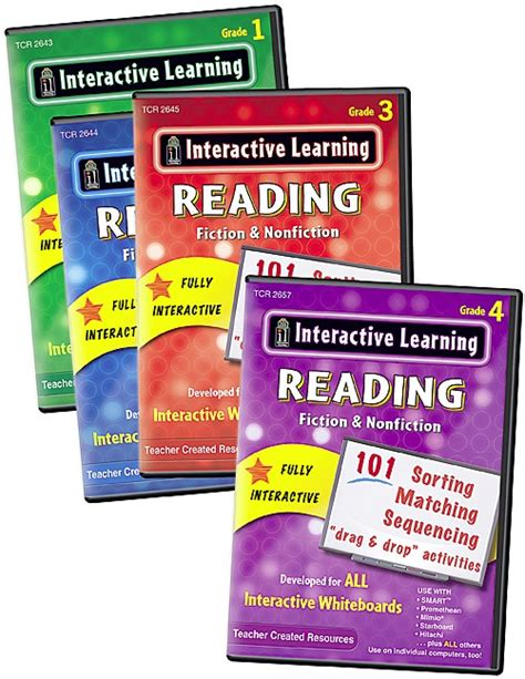 Interactive Learning Reading Games Set (4 Bks) Tcr9989
