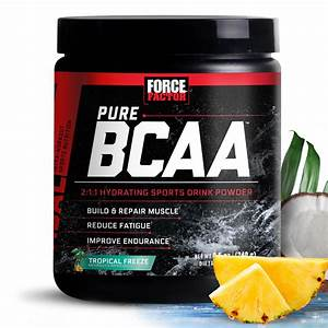 Force Factor Pure Bcaa Powder  Tropical Freeze  30 Servings