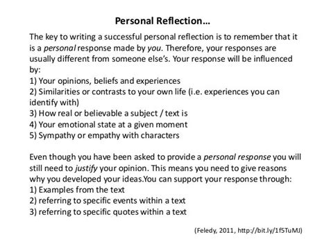 image result  write personal reflection reflection