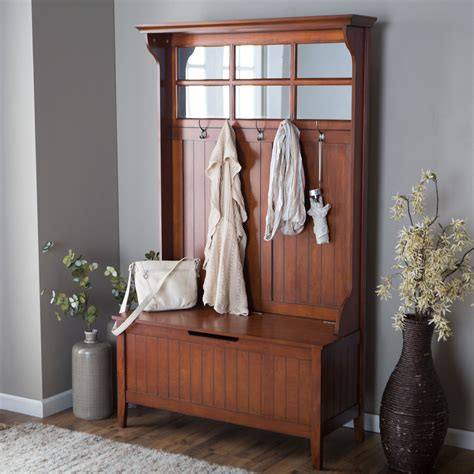 Hallway Organization And Entryway Furniture Collection by Belham Living Richland Tree Cherry Shoe Storage