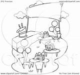 Outline Garden Party Coloring Birthday Clip Royalty Illustration Clipart Pages Bnp Studio Pruners Rf Template Sketch sketch template