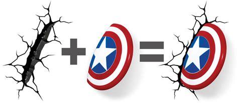 3dlightfx marvel captain america shield 3d deco