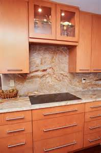 Kitchen with Granite Countertops and Backsplash