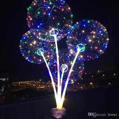 2018 New LED Light Balloon Luminous Balloon With Stick New