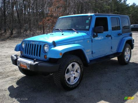 jeep surf 2010 surf blue pearl jeep wrangler unlimited sahara 4x4