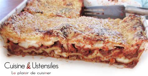 recette lasagne maison italienne recette lasagnes maison le de cuisine et ustensiles