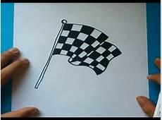 Como dibujar una bandera de cuadros paso a paso How to