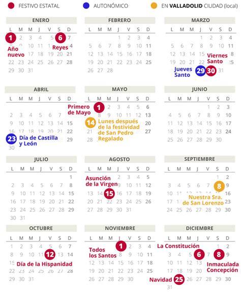 calendario laboral valladolid todos los festivos