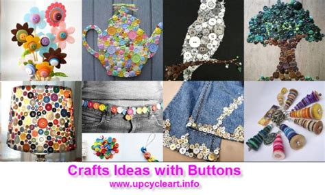 Diy Crafts Ideas With Buttons  Upcycle Art