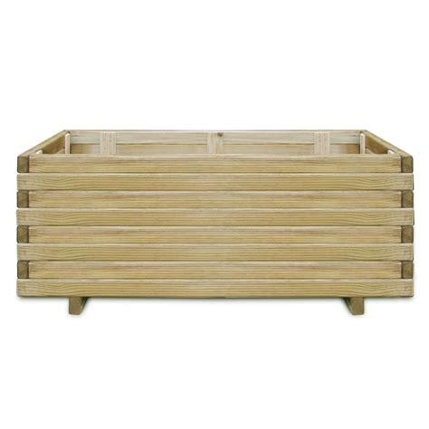 vidaxl nl houten plantenbak 100 x 50 x 40 cm rechthoek