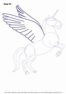 Learn How to Draw a Unicorn with Wings (Unicorns) Step by ...