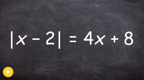 Solving an absolute value equation and checking for ...