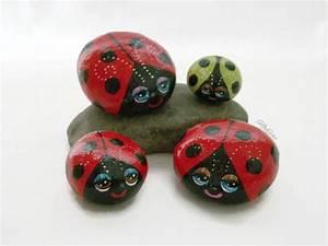 Painted, Rocks, Lady, Bug, Lady, Bird, Bug, Rocks, Garden, Decor