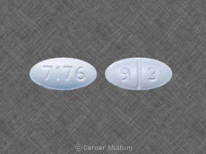 7176 9 3 Pill Images (Blue / Elliptical / Oval)