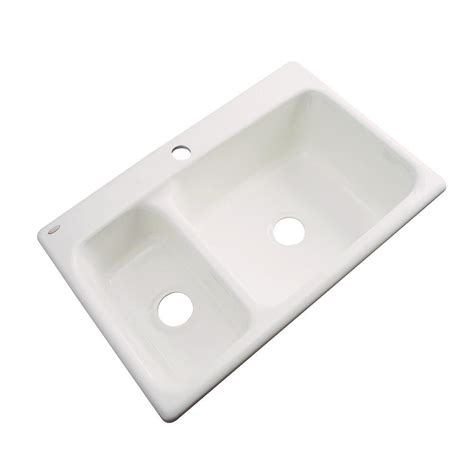 acrylic kitchen sink reviews thermocast wyndham drop in acrylic 33 in 1 3978
