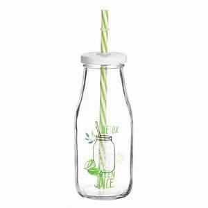 Verre Avec Paille : bouteille avec paille en verre maisons du monde ~ Teatrodelosmanantiales.com Idées de Décoration