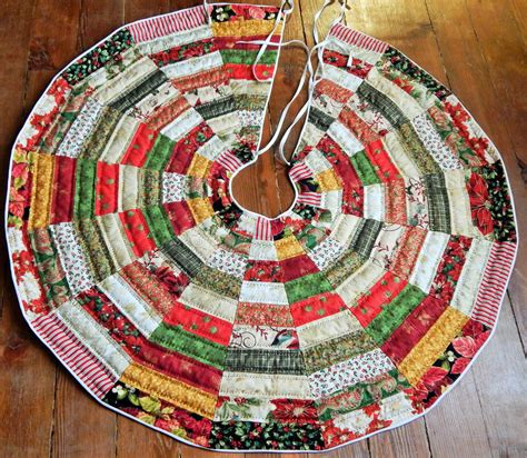 patchwork quilted christmas tree skirt pattern