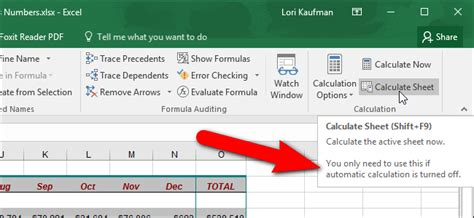 excel calculate worksheet shortcut rcnschool