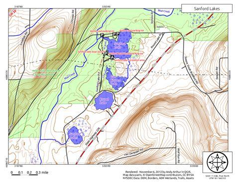 Map: Sanford Lakes – Andy Arthur.org
