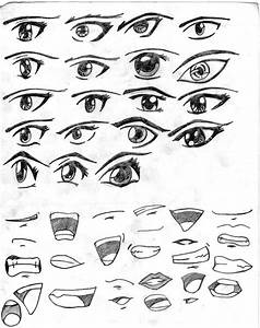 Anime eyes and mouths by RavenWingZero on DeviantArt